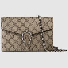 dionysus gg supreme chain wallet gucci women u0027s mini bags