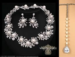 vintage wedding jewelry pearl wedding jewelry set vintage inspired pearl bridal jewelry