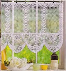 Crochet Valance Curtains 144 Best Cortinas De Crochet Images On Pinterest Crochet
