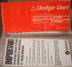 1967 dodge charger nos owners manual original extras in sleeve