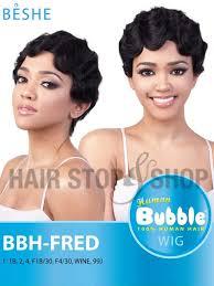 beshe 1b wine beshe bubble human hair bbh fred wig