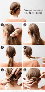 diy hairstyles in 5 minutes hairstyle in a hurry a 5 minute updo more com