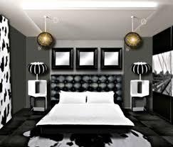 chambre noir blanc decoration chambre noir blanc gris visuel 8