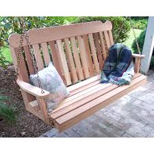 Wooden Glider Swing Plans by Beecham Swing Co Rolled Back 4 Ft Wood Porch Swing Hayneedle