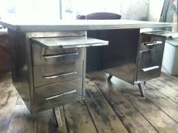 French Computer Desk by Polished Steel 1950 S French Desk Vintage Industrial In Furniture