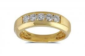 gold wedding bands for men 2 05ct brilliant diamond 14k white gold men s wedding band
