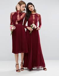 bridesmaid dresses asos fall wedding ideas asos wedding pretty lace eyelash pleated midi