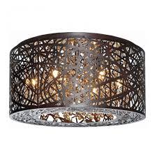 flush mount ceiling fixtures 7 lights bird nest 16