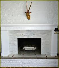 Travertine Fireplace Hearth - tumbled travertine tile fireplace home design ideas