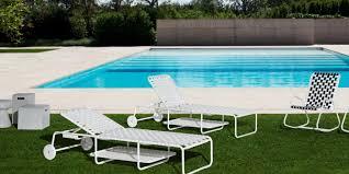 Patio Furniture Pvc - contemporary chaise longue aluminum pvc outdoor inout 882
