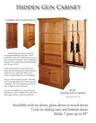 Wood Gun Cabinet Miller Hidden Gun Cabinet Amish Interiors By North Star Trader