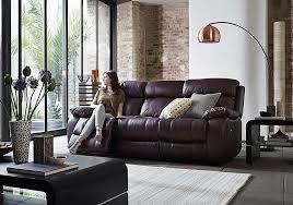 2 Seat Leather Reclining Sofa Moreno 2 Seater Leather Recliner Sofa Furniture Village