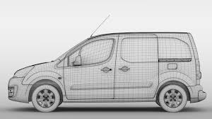 peugeot commercial peugeot partner van l1 electric 2017 3d model vehicles 3d models