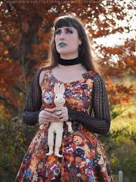 every day is halloween gloomth every day is halloween themed print dress