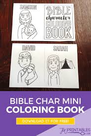 bible character mini coloring book coloring books bible books