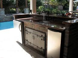 great outdoor kitchen decoration with stainless steel kitchen