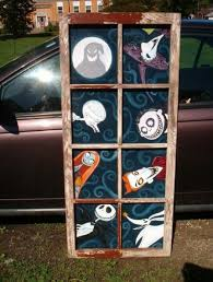 a nightmare before window i painted decorative