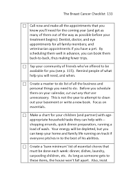 Household Essentials List The Breast Cancer Checklist