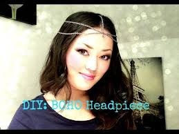 chain headpiece fashion diy boho chain headpiece simple tutorial