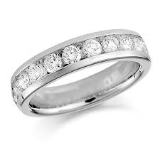 half eternity ring platinum 0 75ct brilliant cut channel set half eternity ring