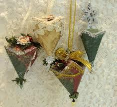 shabby tea my folded paper ornaments