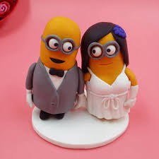 minion wedding cake topper dispicable me minions wedding cake topper custom made 8cm mini mrs