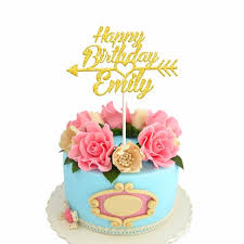 cake toppers birthday 1pcs personalized custom happy birthday cake topper with arrow