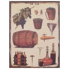 Esszimmerst Le Deutscher Hersteller Wein Retro Blechschild Le Vin Metallbild Weinherstellung