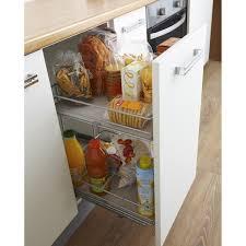 rangement pour meuble de cuisine rangement coulissant 2 paniers pour meuble l 40 cm delinia