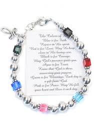 faith bracelets sterling silver religious jewelry colors of faith bracelet