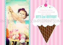 ice cream parlor photo printable birthday invite dimple prints shop