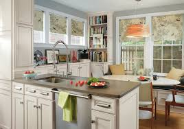 Kitchen Bookcases Roman Shades For Kitchen Dining Room Traditional With Blue