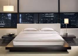 Japanese Style Platform Bed Worth White Leather Size Platform Bed In Wenge By Modloft