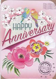 anniversary cards birds flowers happy anniversary card karenza paperie