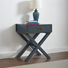 dorel living baby knightly wyatt nightstand graphite blue