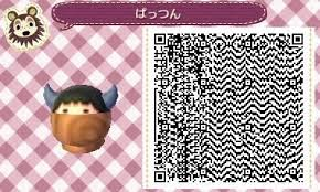 animal crossing new leaf qr code hairstyle acnl hat qr code tumblr