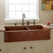 hammered copper kitchen sink signature hardware
