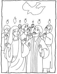 pentecost several coloring pages great ideas hobbies church
