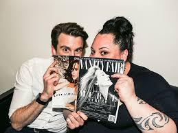 Vanity Fair Reading Peek A Boo Caught Gavin Creel And Waitress U0027 Keala Settle Reading