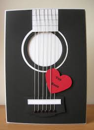 Papercraft Guitar - a for cards some more of my cards in cardmaking and
