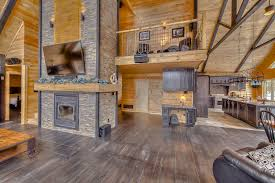 how you plan completing the interior your dream home decoration astonishing log home floor plans with secret rooms using dark walnut flooring under large wooden coffee table across natural stone wall cladding