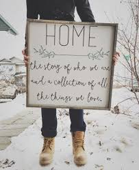 Shabby Chic Farmhouse Decor by Home The Story Of Who We Are Sign Company Farmhouse Chic And