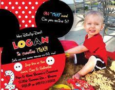 mickey mouse birthday invitation design 2 year old boy