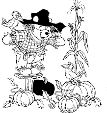winnie the pooh gets fresh fruit harvest thanksgiving coloring for