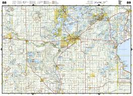 Map Of Michigan Highways by Minnesota Recreation Atlas National Geographic Recreation Atlas