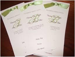 Tea Length Wedding Program Weddings