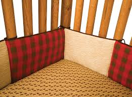 amazon com trend lab northwoods crib bumpers red tan trend