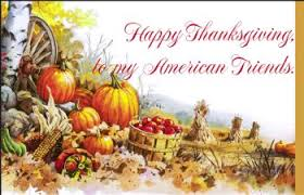 happy thanksgiving to all my american friends