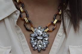 vintage crystal pendant necklace images Sale vintage tortoise shell crystal pendant necklace the fox 39 s jpg