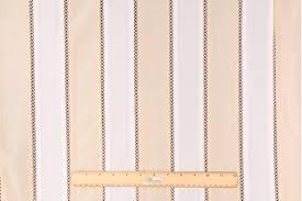 Stripe Drapery Fabric Yards Sada Crochet In Linden Sheer Insertion Stripe Drapery Fabric